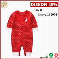Jumpsuit Bayi/Anak Bahan Knit / Rajut Spesial Natal Berkualitas - 12-18 Bulan