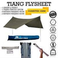 tiang flysheet frame fly sheet tenda alumunium set