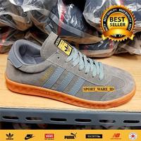 Sepatu Adidas Hamburg Grey Gum-Abu Coklat-Madein Vietnam