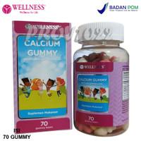 Wellness Calcium Gummy 70 Gummies - Vitamin Kalsium Anak