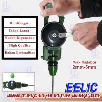 EELIC BTM-PLASTIK Bor tangan manual Hand Drill manual kayu engkol tang