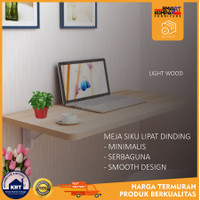 MEJA LIPAT DINDING|Furniture Modern|Ambalan Laptop Tempel Dinding - Coklat Muda, 40x60cm