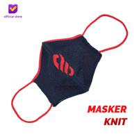 Masker Kain Knit Non Medis - Footstep Footwear Mask Symbol Navy Red