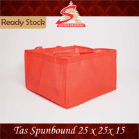 Tas Spunbond/Tas kain/Goodie Bag/Goody Bag 25x25x15