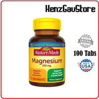 MAGNESIUM 250 MG NATURE MADE 100 Tablets