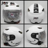 Helm Bogo /Retro helm jpn kawai momo kaca pilot putih gloss