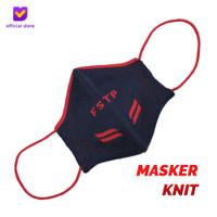 Masker Kain Knit Non Medis - Footstep Footwear Mask Wings Navy Red