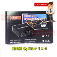 HDMI Splitter 1 in 4 Out Port 1x4 1080P 3D Best Quality Ver 1.4 Full H