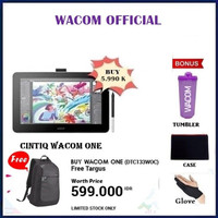"Wacom One Display Cintiq Ceres 13"" Pen Display Full HD DTC 133 DTC133 - Free Gift"