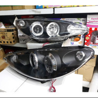 Headlamp peugeot 206 1998-2005 projektor angel eyes