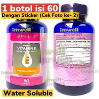 Wellness Vitamin E 400iu Water Soluble 60 Natural Vit E 100% Original