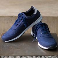 RAVE NAVY  ManNeedMe x Jack  Sepatu Sneakers Pria Casual ORIGINAL - Biru, 39