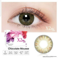 Softlens Warna X2 Bio Four Chocolate Mousse tersedia plano s/d -600