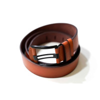ikat pinggang kulit belt sabuk ban pinggang kulit leather coklat A