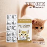 Pet Derm Cat Obat Cacing Kucing Dijual Perpcs