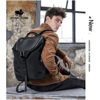 Bison Denim-Tas Ransel Pria / Laptop Backpacks Bahan Nylon (N2881-1B)