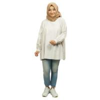 LILY Tunik Kemeja Wanita Hamnida Baju Atasan - BROKEN WHITE POLKADOT