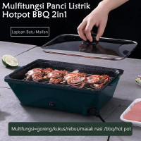 Panci Hotpot BBQ 2in1 Elektrik 36cm /Multifungsi Persegi Panci KPF-36