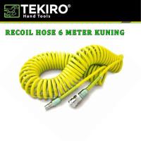 Selang Kompresor / Selang Agin / Recoil Hose 6 Meter KUNING TEKIRO