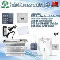 Paket Access Control Fingerprint Door Lock X6 ZKTeco Adaptor 12V _5A 5