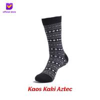 Kaos Kaki Motif Fashion Footstep Footwear - Aztec Socks