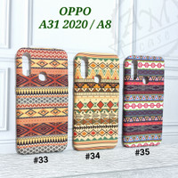 """"""" OPPO A31 2020 / A8 """" Softcase Tribal Patterns Batik Glow In The Dark"""