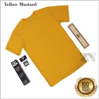 Zulna Distro Baju Kaos Polos Original Yellow Mustard Pria dan Wanita