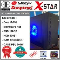 Komputer PC Rakitan Core i5-650/SSD 128GB/H55/DDR3 8GB/PSU 500W [CS76]