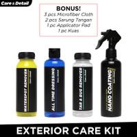 Exterior Care Kit by Care & Detail |Perawatan Mobil Motor Semi Coating