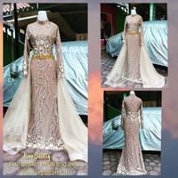 baju wedding modern ekor