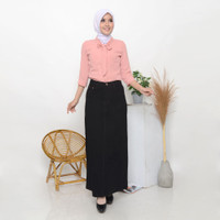 Miss Me Rok Jeans Panjang Wanita Warna Rok Denim Hitam - 982801