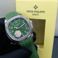 Jam Tangan Patek Philippe Geneve Green Silver Swiss Clone 1:1
