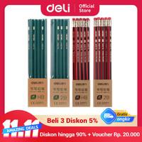 Deli 33312 green wooden pencil - 2B 10Pcs Green