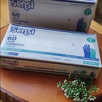 Sensi Gloves - Size M&L Sarung Tangan Latex Handscoon 1 Kotak Isi 60