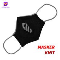 Masker Kain Knit Non Medis - Footstep Footwear Mask Symbol Black Grey