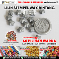 Stempel Lilin Bintang Star Segel Sealing Wax Stamp Seal - Silver