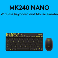 JUAL LOGITECH MK240 NANO Wireless Keyboard and Mouse Combo - Hitam
