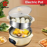 GM Bear Panci Listrik Masak 22cm 1227-Cooking Electric Pot 22cm