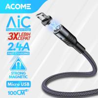 Acome Kabel Data Strong Magnet Fast Charging 2.4 A 100cm Garansi 1 Thn
