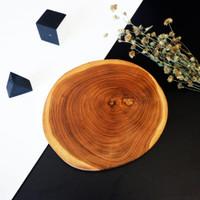Talenan Natural Jati - WOOD SLICE | FREE ENGRAVE