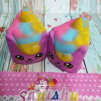 Squishy Murah Short cake Rainbow Cute Unicorn