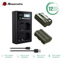 POWEREXTRA BATTERY CANON BP-511A 2 PACK WITH DUAL CHARGER FOR 30D 40D