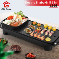GM Bear Alat Panggang 2 In 1 Shabu Grill Elektrik 1246