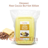 Organic Raw Cacao Butter 500 gr (Cold Processed)