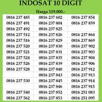 Nomor Cantik Indosat 10 digit Kartu Perdana 4G LTE Ooredoo Nomer