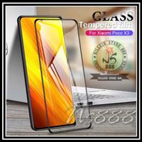 XIAOMI POCO X3 / X3 NFC TEMPERED GLASS 9D FRAME SCREEN GUARD POCOPHONE