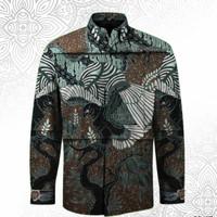 kain batik tulis pola kemeja pria bahan katun/no.218