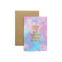 Kartu Ucapan / Greeting Card Harvest Rainbow Tie Dye - Cheers