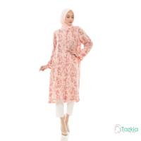 Atasan Muslim Wanita | Marble Long Tunik Salem | Tie Dye Rayon