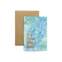 Kartu Ucapan / Greeting Card Harvest Rainbow Tie Dye - Big Day